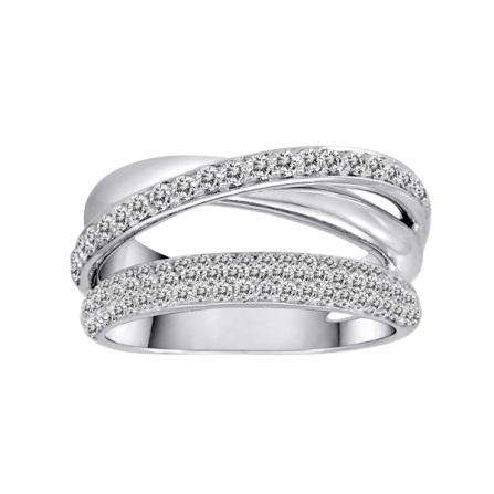 multi row diamond domed ring herteen and stocker jewelers. Black Bedroom Furniture Sets. Home Design Ideas