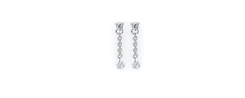 Shimmering Drop Diamond Earrings