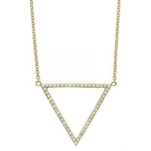 OPEN PAVE TRIANGLE PENDANT
