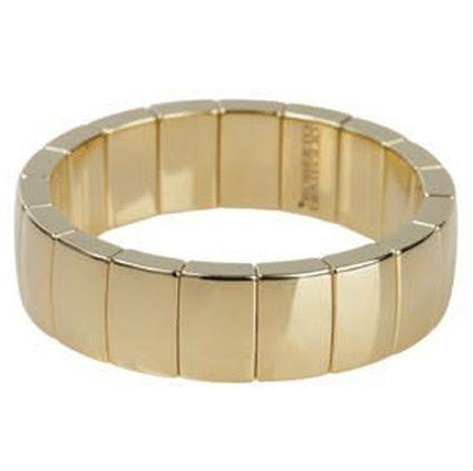 ROBERTO DEMEGLIO CERAMIC & 18K YELLOW GOLD PLATED BRACELET