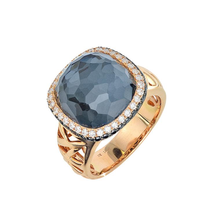 HEMATITE DIAMOND FASHION RING Herteen and Stocker Jewelers