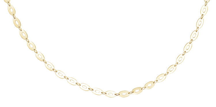 gold women link chains oval chain pdp necklace products collections main large rose in