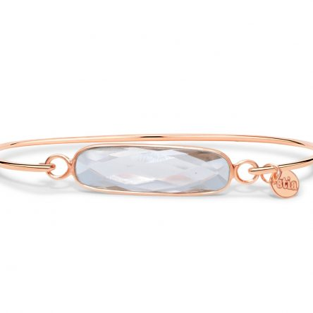 ROSE MORGANITE GEMSTONE BAR BRACELET