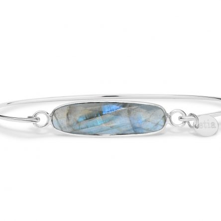 LABRADORITE GEMSTONE BAR BRACELET