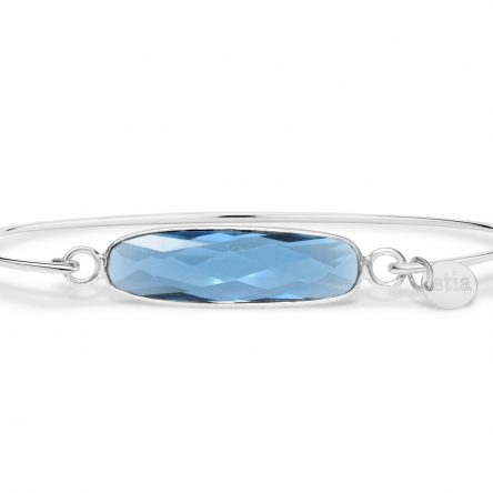 LONDON BLUE TOPAZ QUARTZ GEMSTONE BAR BRACELET