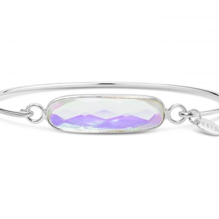 IRIDESCENT TOPAZ GEMSTONE BAR BRACELET