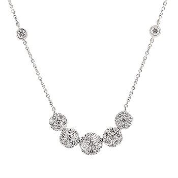 DIAMOND CLUSTER HALO STYLE NECKLACE