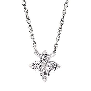 DIAMOND CLUSTER STYLE NECKLACE