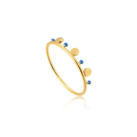 DOTTED TRIPLE DISC RING