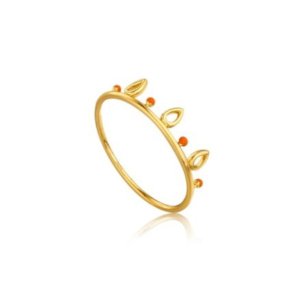 DOTTED TRIPLE RAINDROP RING