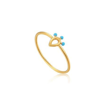 DOTTED RAINDROP RING