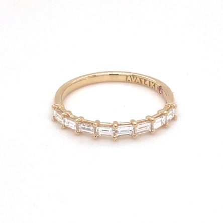 EAST TO WEST SET BAGUETTE DIAMOND BAND