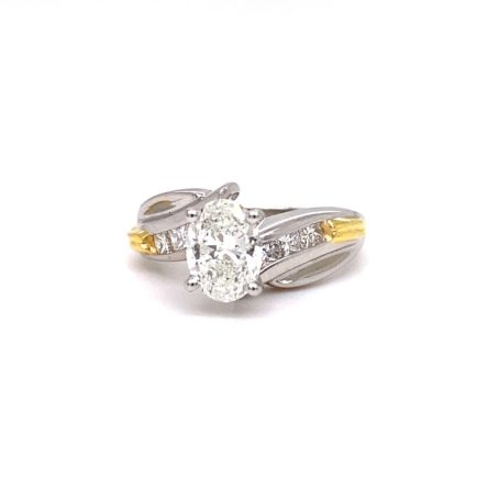1.23ct Oval Cut Diamond Engagement Ring