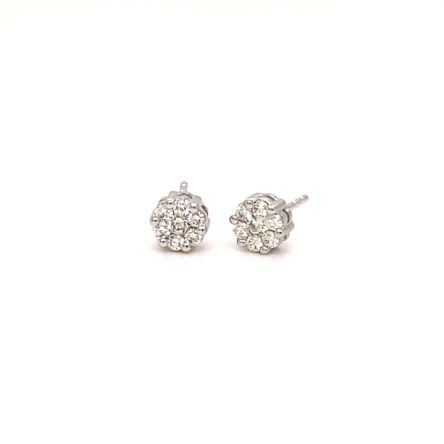 .25ct TOTAL WEIGHT DIAMOND CLUSTER STYLE  STUD EARRINGS