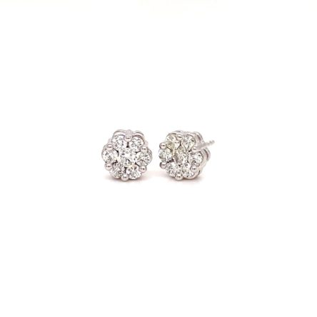 .75ct TOTAL WEIGHT DIAMOND CLUSTER STYLE  STUD EARRINGS